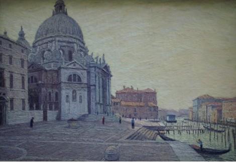 所以他的风景画首先是老米兰的街角和景观以及末伦巴第地区的场景,他
